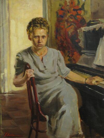Petr Petrovich Litvinsky, 'Portrait of Nina', 1958