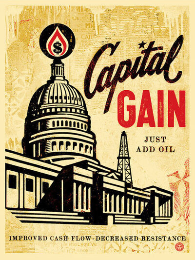 Shepard Fairey, 'capital gain', 2015