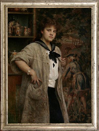 VLAHO BUKOVAC, 'Young Female Artist', 1914