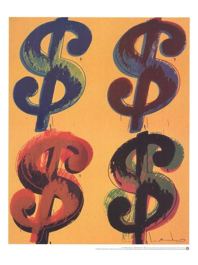 Andy Warhol, 'Four Dollar Sign', 2000