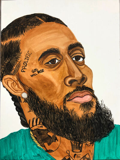 Rudy Shepherd, 'Nipsey Hussle, rapper, entrepreneur and community activist fatally shot outside his store in LA on March 31st.', 2019