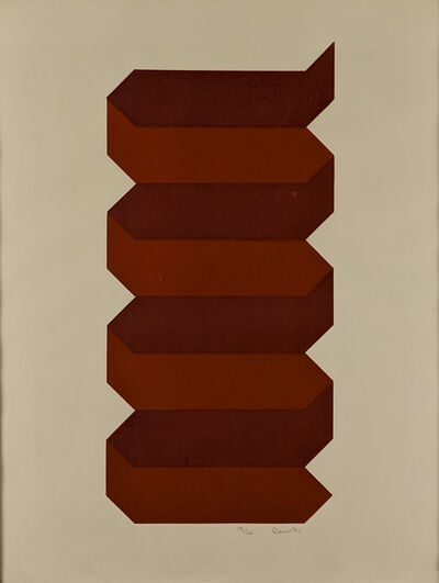 Bill Rawn, 'Arrows Merged IV (Red and Orange)', 1971