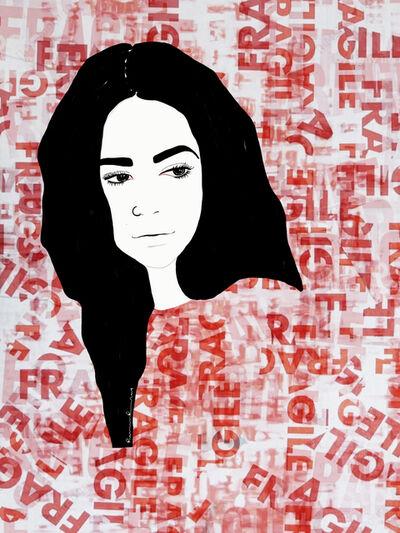 Ramona Russu, 'The girl with black hair/ Fragile 2', 2019