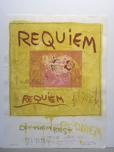 "Joan Snyder, '""Requiem/Let them rest""', 1998"