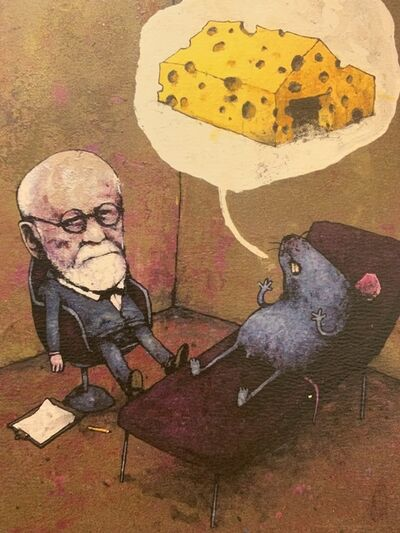 "dran, 'DRAN ""FREUD VS MOUSE"" PARIS EXCLUSIVE, RARE', 2016"