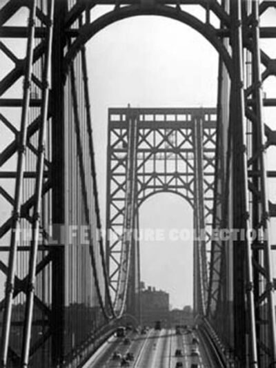Andreas Feininger, 'George Washington Bridge, New York', 1950