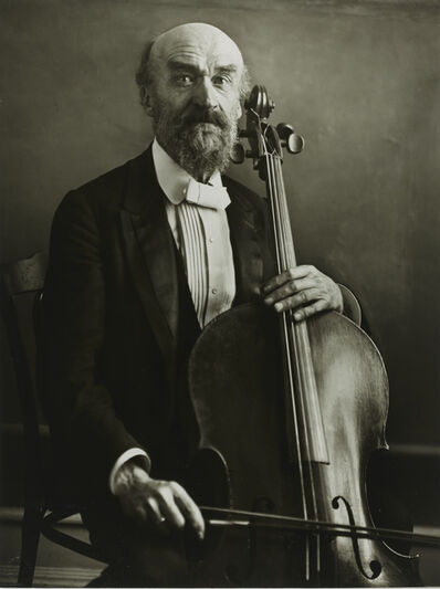 August Sander, 'Cellist [Julius Klengel]', 1921