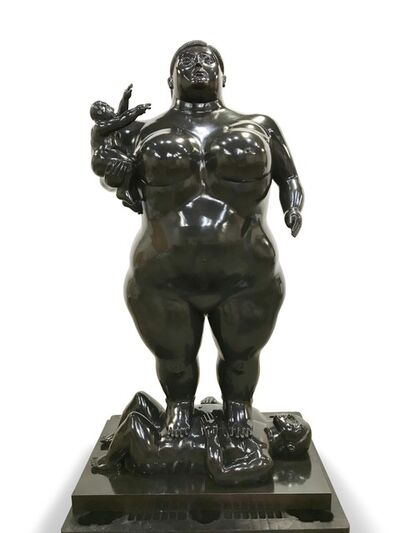 Fernando Botero, 'Mother and Child', 1989