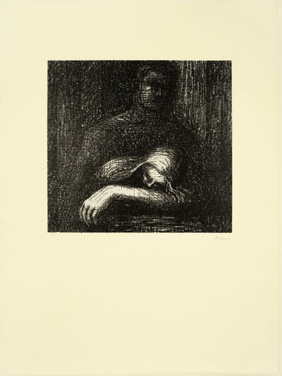 Henry Moore, 'Lullaby: Sleeping Head', 1973