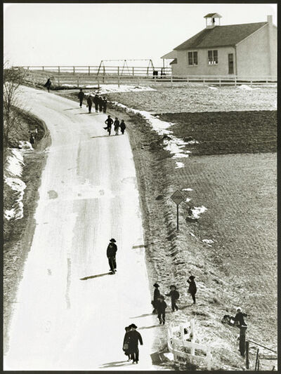 Barry L. Thumma, 'Amish Children on Road from Schoolhouse', 1970s