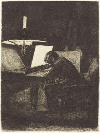 François Bonvin, 'The Printmaker (Le Graveur)', 1861