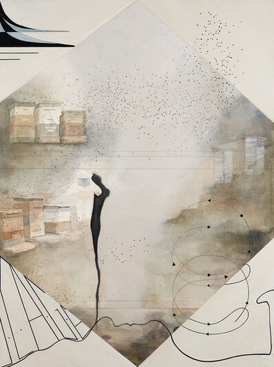 Christine Ödlund, 'John Cage contemplating the relation between Bees and Mushrooms', 2020