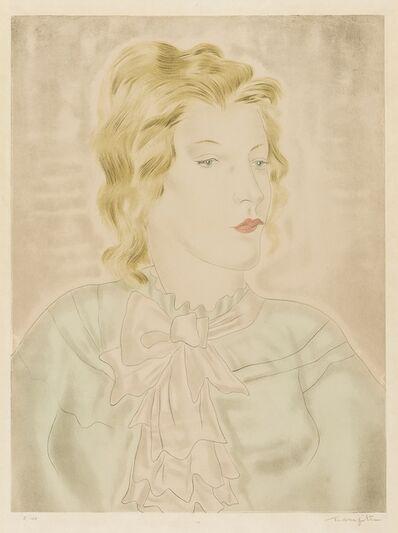 Léonard Tsugouharu Foujita, 'Femme à la cravate rose (Buisson 30.26)', 1930