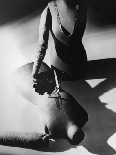 Norman Parkinson, 'Rahvis Couture: Two Dressmaker's Dummies with Scissors', 1937