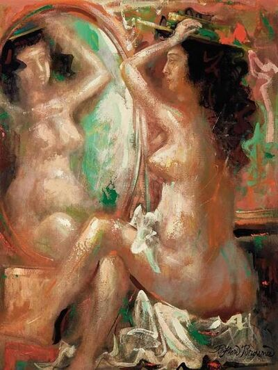 Byron Browne, 'Nude by the Mirror', 1958