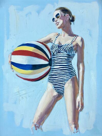 William Acosta, 'Beach Ball Girl', 2017