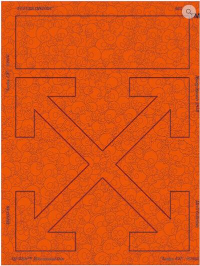Takashi Murakami, 'Memento Mori: Fluourescent Orange', 2018