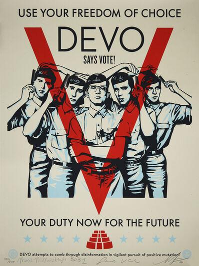 Shepard Fairey, 'DEVO Vote!', 2020
