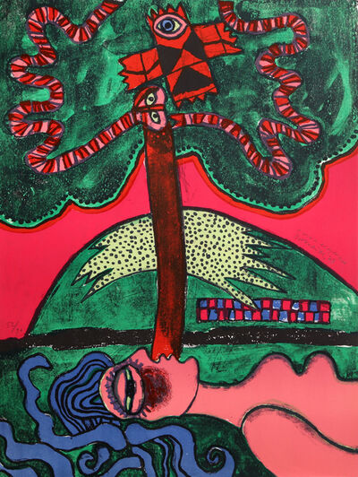 Corneille, 'L'Arbre Extatique from Homage to Picasso', 1973