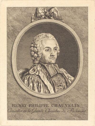 Charles-Nicolas Cochin II, 'Henry Philippe Chauvelin', 1752
