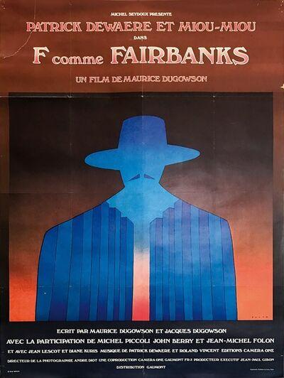 """Jean Michel Folon, 'Lotto di due manifesti: """"La spirale""""; """"F comme Fairbanks"""".', 1993-1997"""