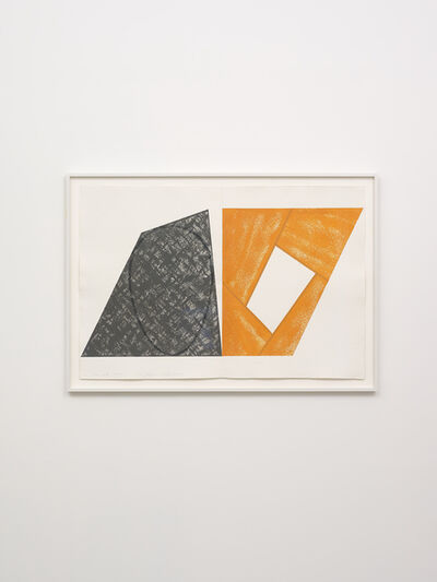 Robert Mangold (b.1937), 'Gray Ellipse / Orange Frame', 1989