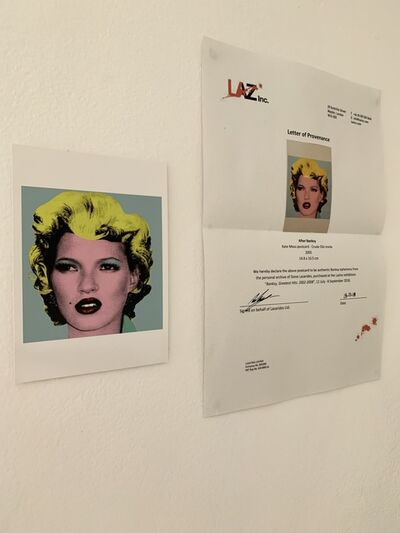"Banksy, 'BANKSY- ""KATE MOSS POSTCARD, CRUDE OILS INVITE FROM LAZINC WITH PROVENANCE LETTER', 2005"