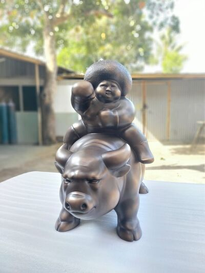 Adi Gunawan, 'Kerbau Petinju (The Boxer And The Buffalo)', 2021