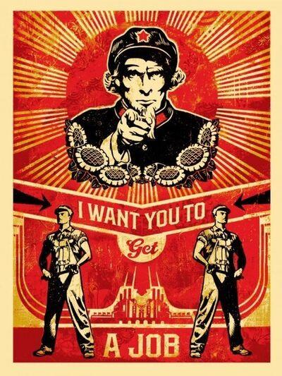Shepard Fairey, 'Get a job', 2012