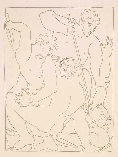 """Pablo Picasso, 'Combat pour Andromède entre Persée et Phinée - From """"Les Métamorphoses d'Ovide""""', 1931"""
