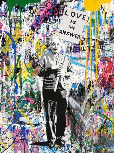 Mr. Brainwash, 'Einstein, Love is the Answer', 2018