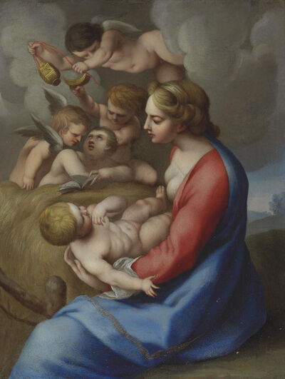 Circle of Lubin Baugin, 'Madonna and Child with angels'