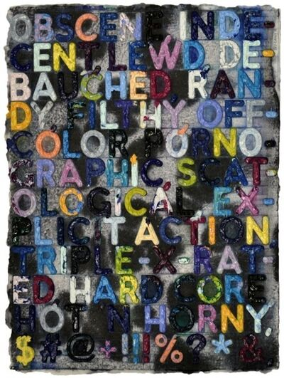 Mel Bochner, 'Obscene', 2012