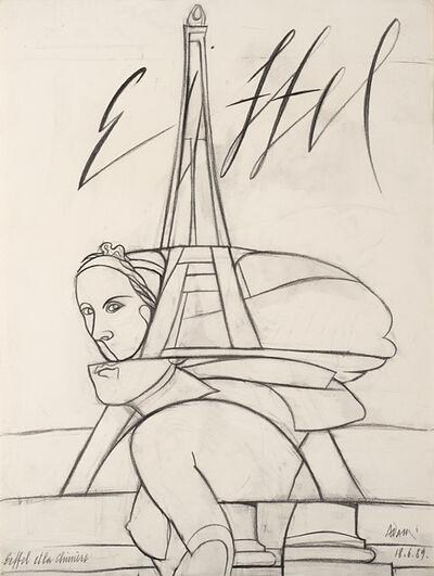 Valerio Adami, 'Eiffel et la chimere', 1989