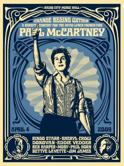 """Shepard Fairey, '""""Paul McCartney NYC Change Begins Within"""" Blue Edition', 2009"""