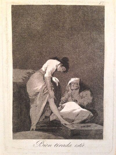 Francisco de Goya, 'Bien Tirada Esta, fromLos Caprichos, first edition'