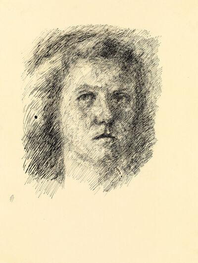 Maria Lassnig, 'untitled (self portrait)', 1943