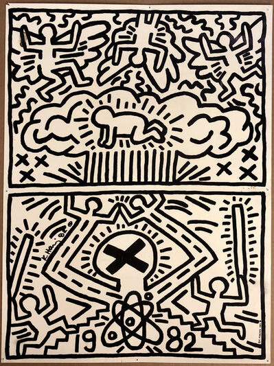 Keith Haring, 'No Nukes Announcement', 1982