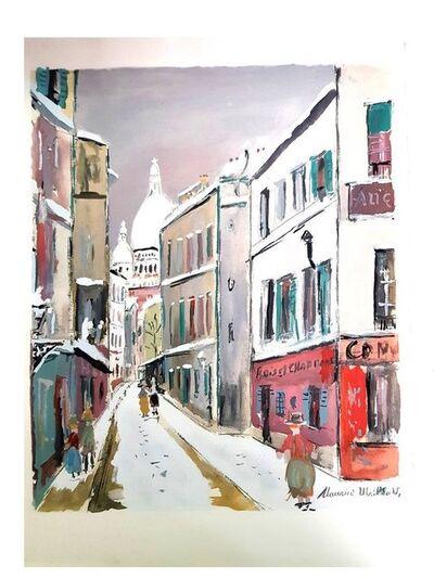 """Maurice Utrillo, 'Pochoir """"Sacré Coeur - Village de Montmartre"""" after Maurice Utrillo', 1950"""
