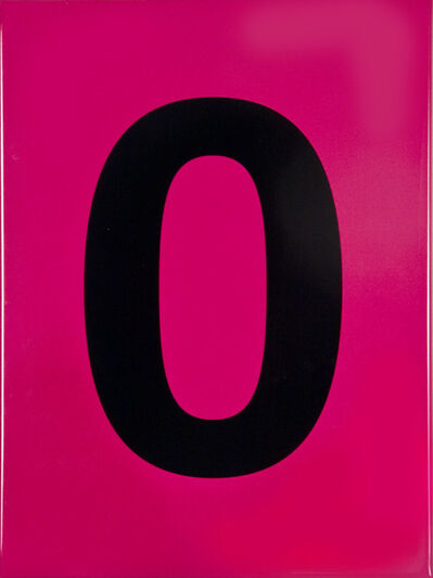 Olivier Mosset, 'Number 0 From a series of 0 to 9 on cyan color', 2006