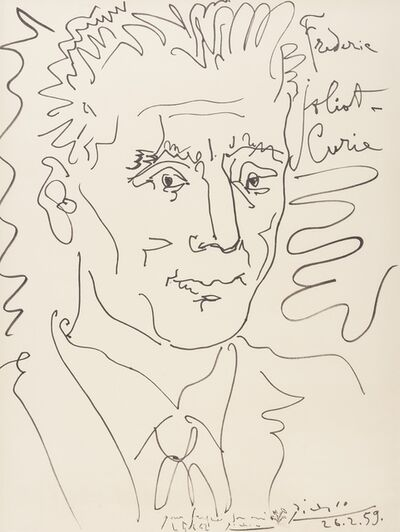 Pablo Picasso, 'Portrait of Frederic Joliot-Curie', 1959
