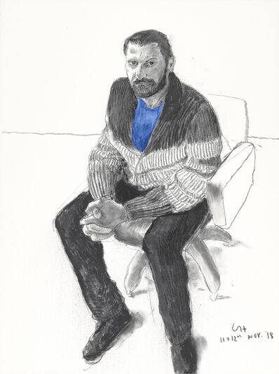 David Hockney, 'Jean-Pierre Gonçalves de Lima I', 2018
