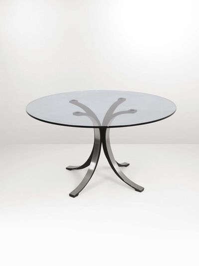 Osvaldo Borsani, 'A T69 table with a painted molten aluminum and satinated steel structure', 1970 ca.