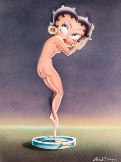 Leslie Cabarga, 'Betty Boop as a Cloud of Smoke from a Marijuana Cigarette (After Icart)', 1980