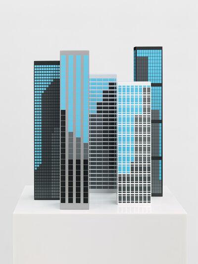Julian Opie, 'Modern Towers 1', 2017