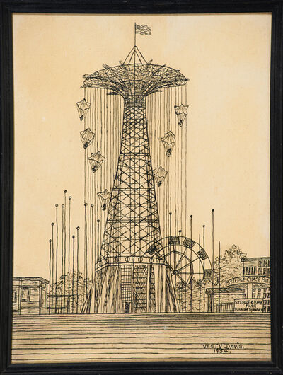 Vestie Davis, 'Untitled (Coney Island Parachute Jump)', 1954