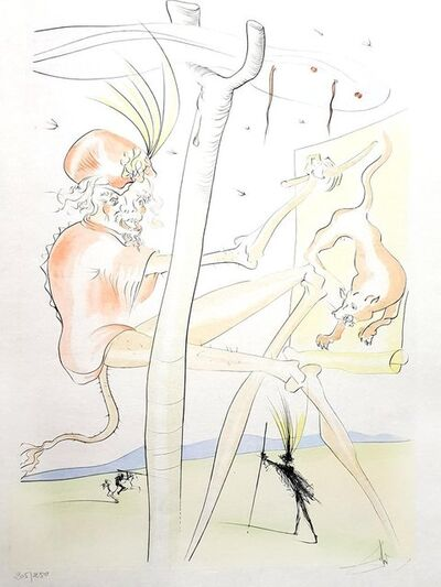 Salvador Dalí, 'Monkey and Leopard - Original Lithograph', 1974