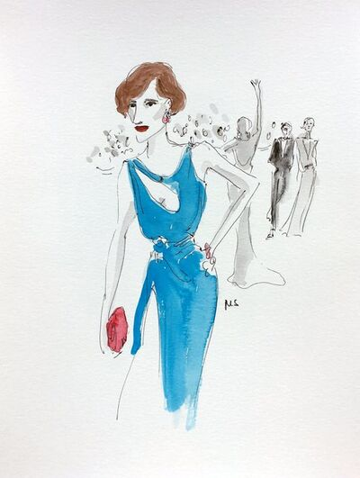 manuel santelices, 'The Danish Girl in Atelier Versace', 2016