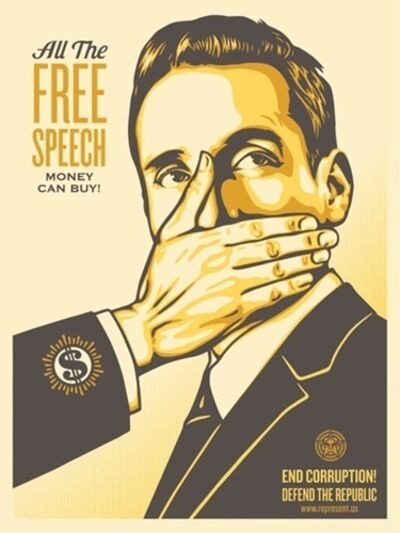"Shepard Fairey, 'Pay Up Or Shut Up Campaign Edition ""Yellow Variant""', 2015"