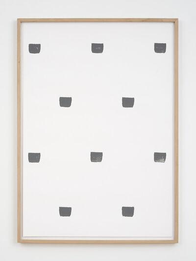 Niele Toroni, 'Empreintes de pinceau n°50 à intervales de 30 cm', 1997